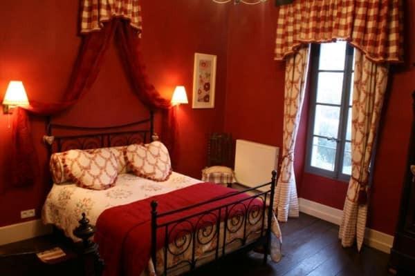 cores para quarto: vermelho