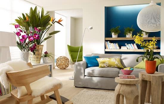 faça decoração de primavera em sua casa