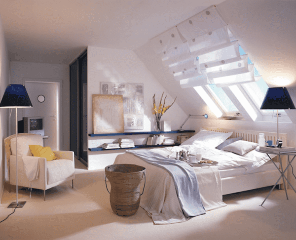 aprenda a decorar um quarto no sotão