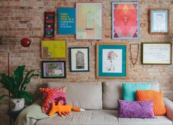decoração barata com papel de parede