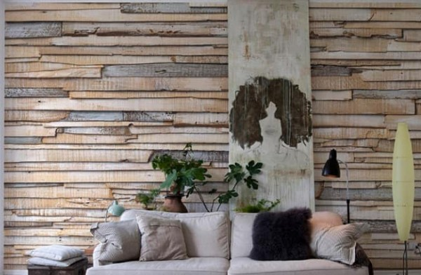 aprenda a fazer decoração com papel de parede