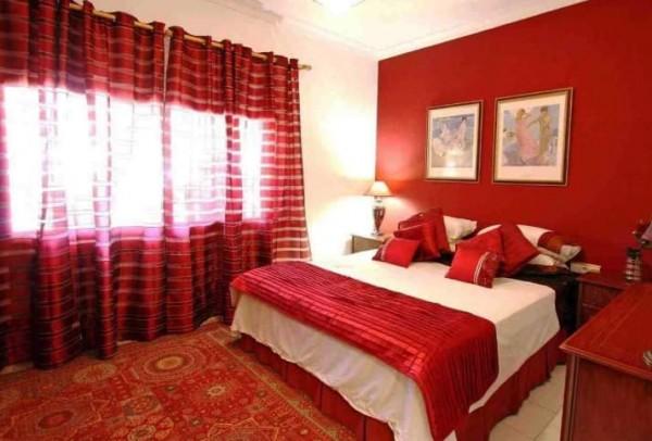 decoração de quartos de casal: vermelho