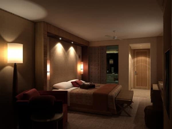 iluminação do quarto de casal
